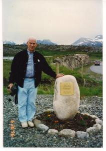 Monument to Maurelius Einarsen in Skarsta, Norway (died 1940)