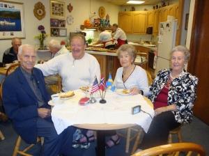 Margit, son Bjarne, Knut & Haldis 2010 at kaffestua